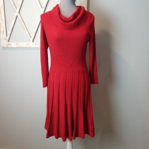 beautiful red cowl neck dress Large